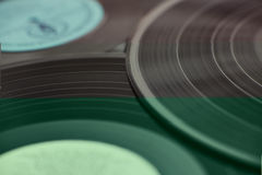 Disks and gramophone Royalty Free Stock Photography