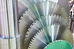 Disks for industrial circular saws Royalty Free Stock Image