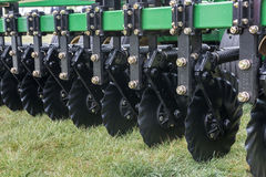 Disks of a seeding drill Stock Image