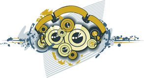 Disks Sub-woofer Ornament Texture. Vector Illustration Royalty Free Stock Photography