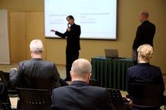 Diskussion über Geschäftsidee Lizenzfreies Stockbild