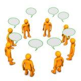Diskussion stock illustrationer
