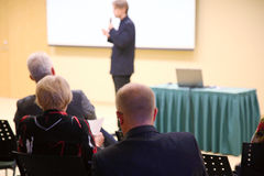 Diskussion av affärsidén Arkivbild