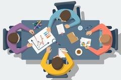 Diskussion bei der Sitzung, Vektor Lizenzfreie Stockfotografie