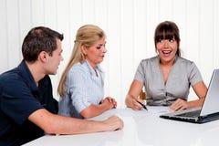 Diskussion an einer Abfrage Lizenzfreies Stockfoto