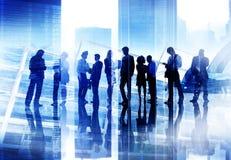 Diskussion för affärsfolk som möter Team Corporate Concept Arkivbilder