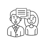 Diskussion med folk stock illustrationer