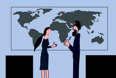 Diskussion mellan två affärschefer royaltyfri illustrationer