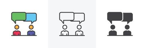Diskussion tvistsymbol stock illustrationer