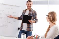 Diskussion von Geschäftsstrategie Lizenzfreie Stockfotos