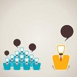 Diskussion zwischen Team und Führer Lizenzfreies Stockfoto