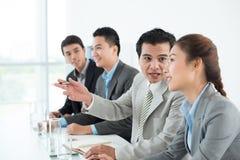 Diskussionen bei der Konferenz Lizenzfreie Stockbilder