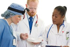 diskussionen doctors kirurgar Arkivfoton