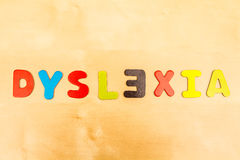 Dislexia Imagens de Stock