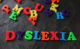 Dislexia em letras do jogo fotos de stock royalty free