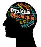 Dislexia, inabilidades de aprendizagem Fotografia de Stock Royalty Free