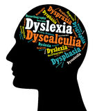 Dislexia, inhabilidades de aprendizaje Fotografía de archivo libre de regalías