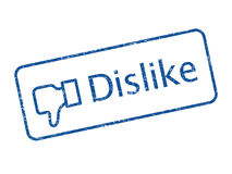 Dislike. Blue color dislike rubber stamp royalty free stock image