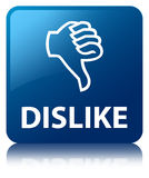 Dislike blue square button Stock Images