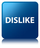 Dislike blue square button Stock Image