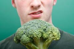 Dislike broccoli stock photography
