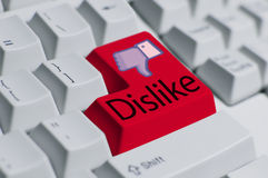 Dislike Button Royalty Free Stock Photography