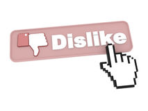 Dislike Button - Social Media Concept. Stock Image