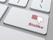 Dislike Button - Social Media Concept. Royalty Free Stock Photos