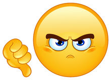 Dislike emoticon. Design of a dislike emoticon Royalty Free Stock Photos