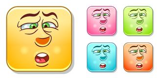 Dislike Emoticons Collection Stock Photography
