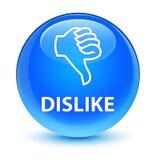 Dislike glassy cyan blue round button Stock Photo