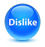 Dislike glassy cyan blue round button Royalty Free Stock Photos
