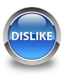 Dislike glossy blue round button Stock Photos