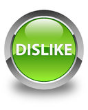 Dislike glossy green round button Royalty Free Stock Image