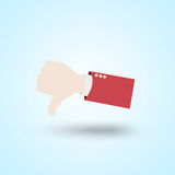 Dislike hand. Dislike web hand abstract design Royalty Free Stock Photography