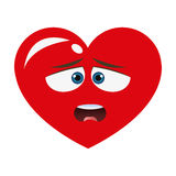 Dislike heart cartoon icon Royalty Free Stock Image