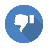 Dislike icon. Vector Glyphs Shadow Icon Stock Photography