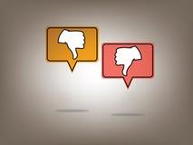 Dislike image. Social Media Network Illustration, Vector, Icon Royalty Free Stock Photography