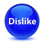 Dislike glassy blue round button. Dislike isolated on glassy blue round button abstract illustration Royalty Free Stock Photography