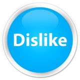 Dislike premium cyan blue round button Stock Photography