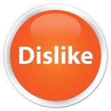Dislike premium orange round button. Dislike isolated on premium orange round button abstract illustration Stock Photo