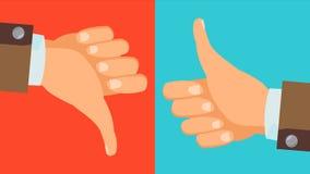 Dislike, Like Hands Vector. Thumbs Up, Thumbs Down Icons. Social Network Symbol. Flat Cartoon Illustration. Dislike And Like Icon Vector. Thumbs Up, Thumbs Down Stock Image
