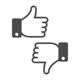 Dislike like icon. Royalty Free Stock Images