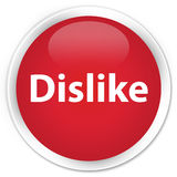 Dislike premium red round button Royalty Free Stock Photo