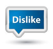 Dislike prime blue banner button Royalty Free Stock Images