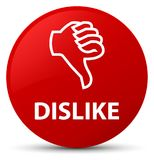 Dislike red round button Royalty Free Stock Image