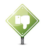 Dislike road sign illustration design Royalty Free Stock Photo