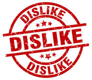 Dislike round red stamp Royalty Free Stock Photos