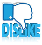 Dislike Sign. Three dimension style and high quality image Stock Photo