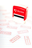 Dislike stamp Royalty Free Stock Images